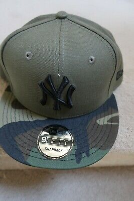 d5bdf0673ef New York Yankees 9Fifty Snapback Hat BRAND NEW Olive Green with Camouflage  Bill