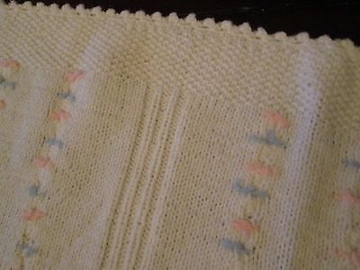 Vintage Baby Blanket Acrylic Thermal Waffle WEAVE Knit Security Pink Morgan
