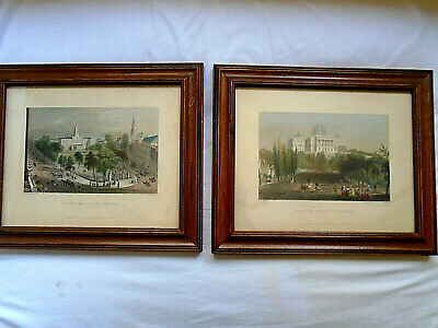Beautifully Framed Pair of Early Engravings circa 1840 by W. H. Bartlett