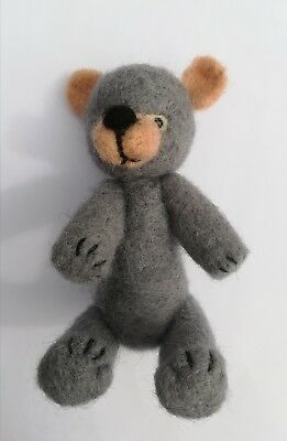 needle felting Kit, teddy bear