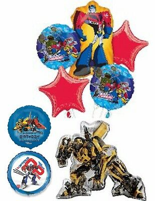 Transformers Balloons Party Ware Decoration Bumblebee Optimus Prime Helium