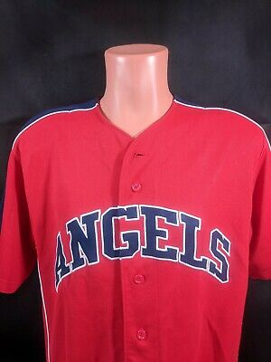 4dfa36875 Los Angeles Angels Of Anaheim Jersey Sz Large Red  53 Bobby Abreu MLB  Baseball
