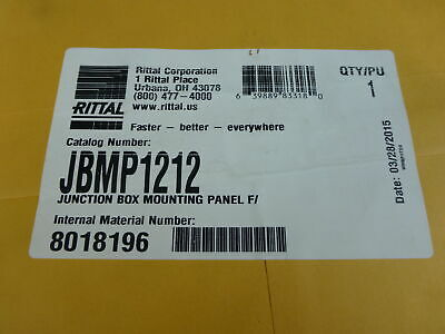 "Rittal JBMP1212 Junction Box Grey Mounting Panel, 11"" X 11"" - NEW Surplus!"