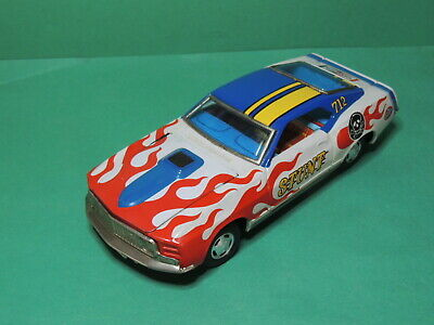Voiture Ford Mustang Stunt car Tin Battery operated vintage toy - Japan T.P.S.