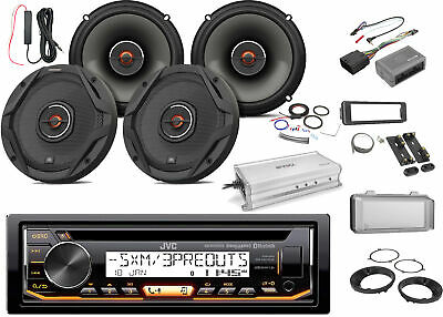 "JVC Marine CD Bluetooth Radio, 4x 6.5"" Speakers -Bulk Packaging, Amp,Accessories"