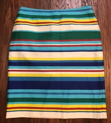 1adce0e14f NWT Talbots Pencil Skirt Size Petite 6 Rainbow Multi-Color Striped Career  Dressy