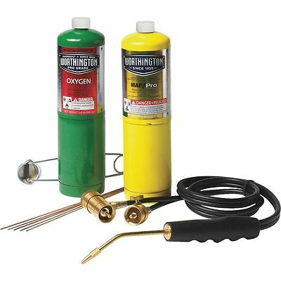 Mag-Torch, Brazing Cutting Welding Torch Kit Oxygen Map Pro-Set