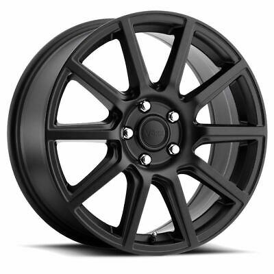 18 Inch Matte Black Voxx Mille Wheels Rims Fits Ford Fusion Focus