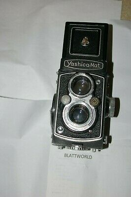 GENUINE ORIGINAL YASHICA MAT TWIN LENS REFLEX MEDIUM FORMAT CAMERA 75mm lens