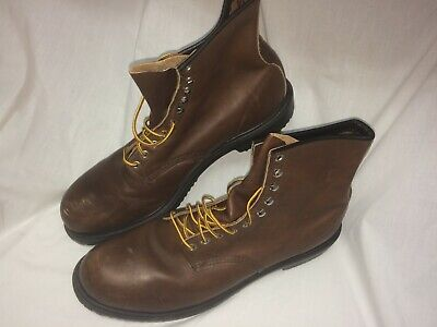 7fbdd8a25dc RED WING 2233 Steel Toe Leather Work Boots Men's 15 D (M) Brown USA Lightly  Used