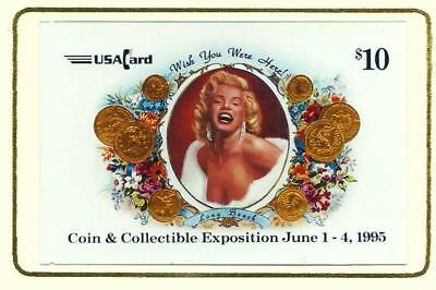 Marilyn Monroe Proof Telephone Card. Long Beach Coin Show 1995. Promo USA Card