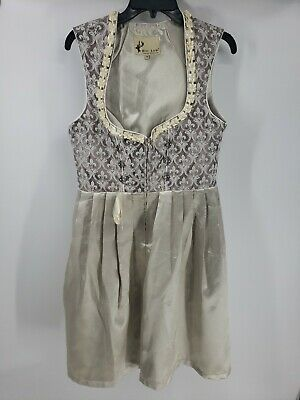 Alte Liebe Cream and Brown Womens Lace up Dress New With Tags Size 38