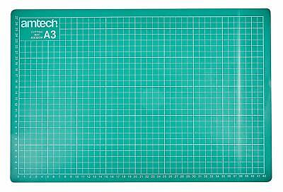 Amtech A1 A2 A3 A4 OR A5 Self Healing Grid Cutting Mat & Rotary Cutter 45mm