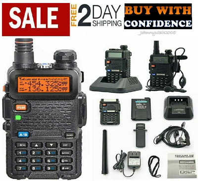 POLICE RADIO SCANNER Handheld Fire Transceiver Dual Band Two