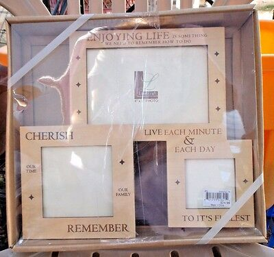Lasercraft Wood PHOTO COLLAGE-ENJOYING LIFE.CHERISH.REMEMBER.LIVE.-frames