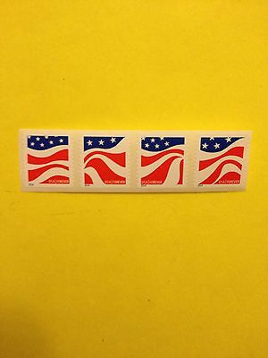 Scott# 4894-97 Forever Stamp Red, White and Blue With Out Backing #.  Strip Of 4