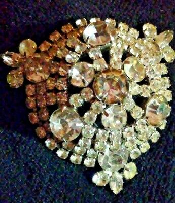 ae90cdf7e5e Antique Vintage Domed Large The Most Beautiful Rhinestone Brooch EVER