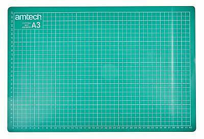 Set Of Amtech A3 Self Healing Grid Cutting Mat Non Slip Board + Rotary Cutter