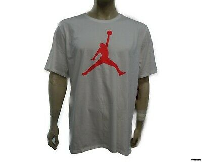 73ce352d 908017-104 Air Jordan Men's Jordan Iconic Jumpman Tee (White/Infrared) Size
