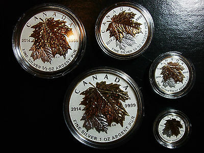 RARE collectible! Canada 2014 Fine Silver Fractional Set - Maple Leaf