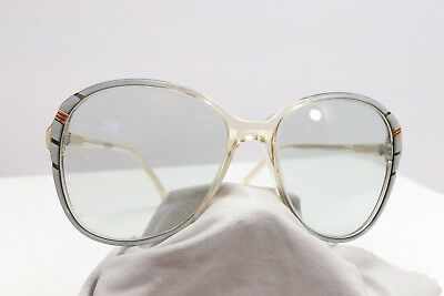Vintage 80's Womens Oversized Sunglasses Oyster White Fashion Butterfly Big Eye