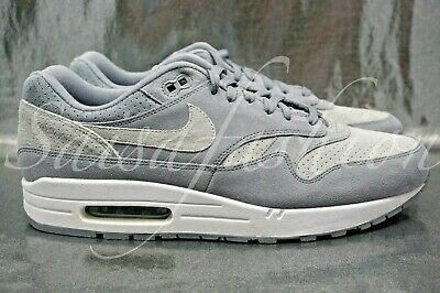 buy online 24a3a 7a83a Nike Air Max 1 Premium Cool Grey Suede Men s Sneakers 875844-005 Size 12