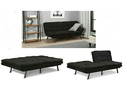 SLEEPER SOFA BED Suede Convertible Couch Modern Living Room Loveseat Futon  Sleep