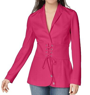 69a039a12c9 XOXO NEW Pink Womens Size Medium M Corset Lace Up Long Sleeve Jacket $69 255
