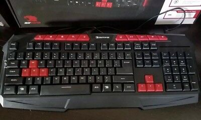 ee03a750781 Ibuypower Wired USB Gaming Keyboard Model GKB100 Multi-Color Very Good