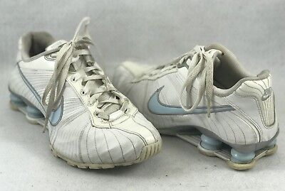 the latest cca9e ce549 Nike Shox Medallion Womens Running Shoes 325211 Size 8 White Blue - 1232