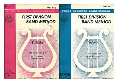 Drums Belwin Mills First Division Band Method Part One and Two Music Book