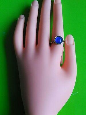 Vintage Antique Style Silver Brass Mood Ring 70S Bohemia Unisex