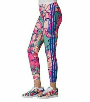 a0cd4d80359 Adidas Originals Bananas 3 Stripes Leggings fitted Size Medium M AJ8070