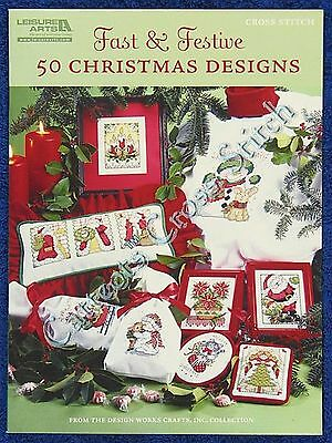 Cross Stitch Pattern Christmas Designs 50 Fast & Festive Ornaments Cards Motifs