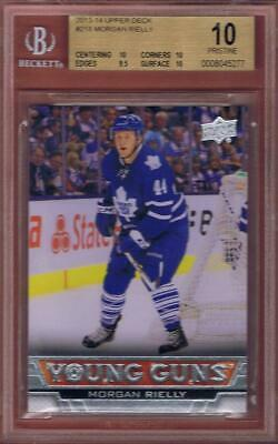 Morgan Rielly Pristine Rookie 2013-14 Upper Deck Young Guns Rc #218 Bgs 10 13-14