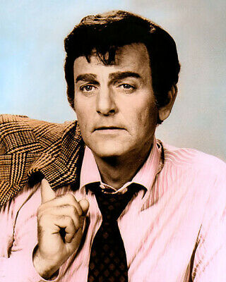 """MIKE CONNORS JOE MANNIX 1959 HOLLYWOOD ACTOR 8x10"""" HAND COLOR TINTED PHOTOGRAPH"""