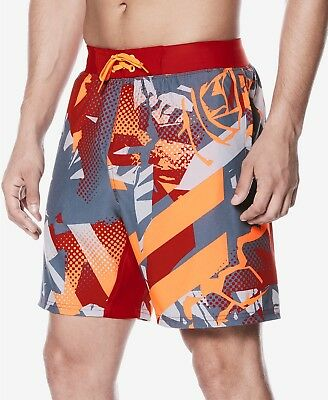 6626d178a1 Nike mens Printed Swim Trunks- Hyper Crimson - NWT - Size Small, Medium &