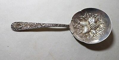 Antique S Kirk & Son Co Sterling Silver Repousse Spoon Berry Nut 1914-1924