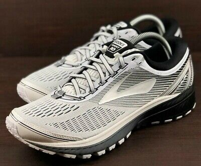 a02cb43c332425 NEW Brooks Ghost 10 Mens Running Shoes DNA White Silver Black (1102571D167)  Sz 8