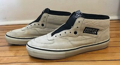 e6a3145f80 Vans Syndicate Half Cab Skate Shoe Mens US 7 Off-White Suede SAMPLE - Used