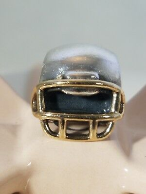 05b1f6e52 Authentic Pandora Sterling Silver and 14k Gold FOOTBALL HELMET Charm 790570