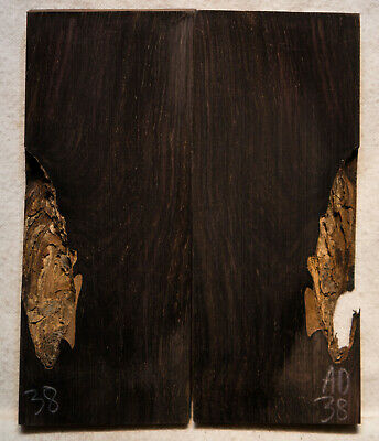 """African Blackwood #38 Knife Scales 5""""x1.5-2.1""""x 3/8"""""""