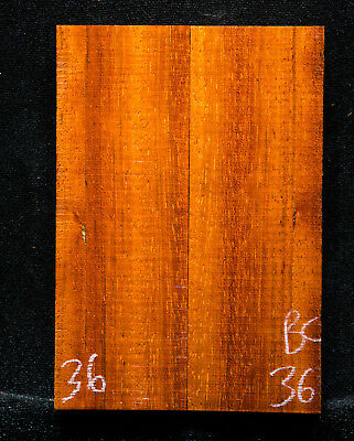 "Brazilian Cherry #36 Knife Scales 5""x 1.75""x 7/16"" see  100 species 1000 scales"