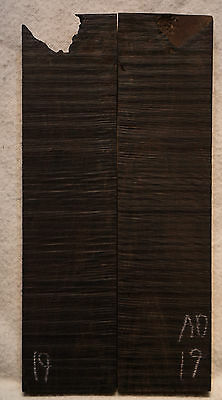 """African Blackwood #19 Knife Scales 5-6""""x1.4""""x3/8"""""""