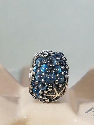 Authentic Pandora Sterling Silver OCEANIC STARFISH Frosty Mint Bead 791905CZF