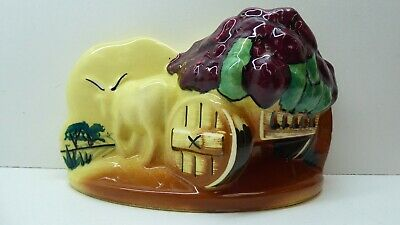 Vintage Decor Australia Pottery Mcwilliams Sherry Wall Vase Statue Ceramic