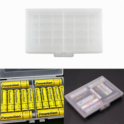 Clear Plastic Case Battery Box Storage Case Cover Batteries Holder For AA AAA
