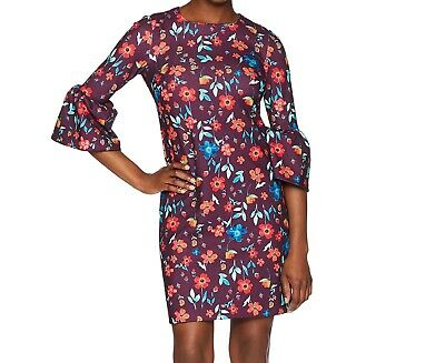 aea1bb68 Calvin Klein NEW Purple Womens Size 4P Petite Floral Sheath Dress $134 183