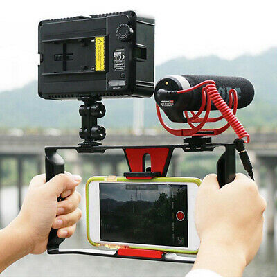 "Video Camera Cage Stabilizer Film Making Rig for iPhone Samsung 4-7"" Smart Phone"