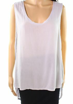 f8625a2fef3f9 Lanston NEW Gray Womens Size Large L Scoop-Neck High-Low Tank Top  121